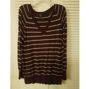Mossimo Plum Striped Sweater